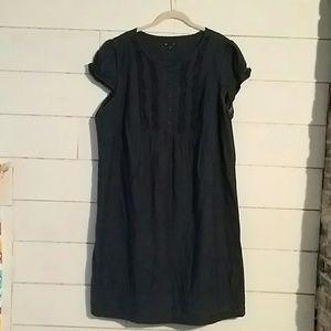 Gap Dark Chambray Shift Dress